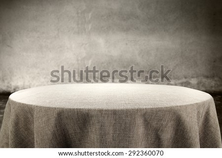 tablecloth wall and free space for you