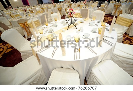 Tables set for an event
