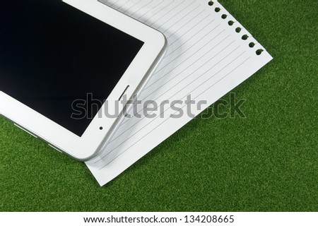 Tablet and line blank papers