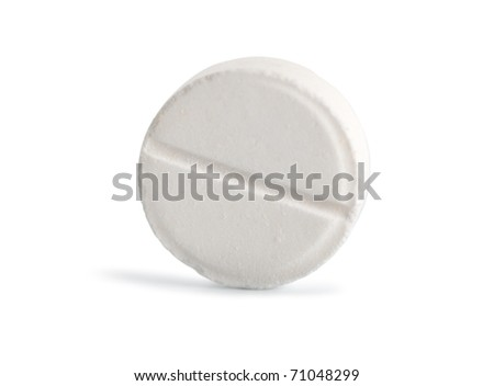 Tablet aspirin isolated on a white background (Path)