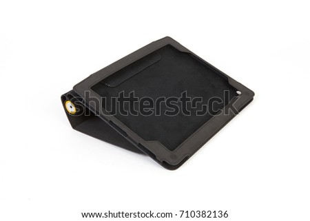 Tablet case isolated on white background #710382136