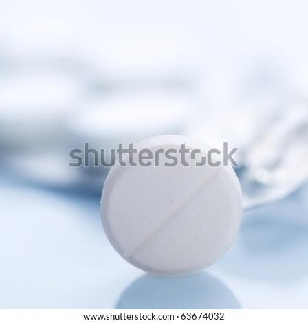 Tablet closeup.Medical Treatment