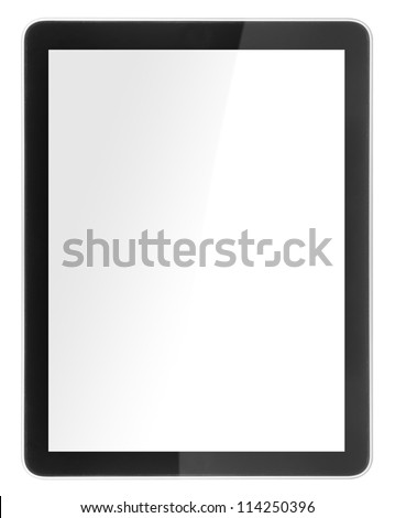 tablet computer isolated like ipades on white background