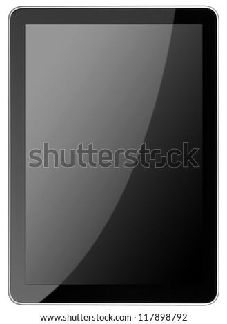 tablet computer isolated on the white backgrounds. Ipade - like pc