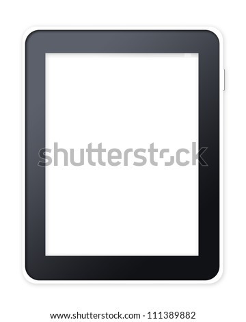 Tablet computer pc on white background