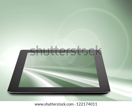 Tablet computer (tablet pc) . Modern portable touch pad device