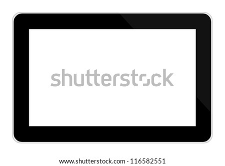 tablet computer (tablet pc) on white background