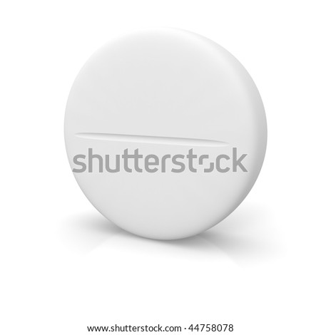 Tablet isolated on white