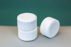 tablet of chlorine or bromide for mainteance of water quality of home spa