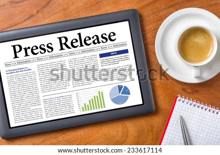 Tablet on a desk - Press Release #233617114