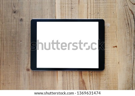 Tablet on the table, computers, liquid crystal #1369631474