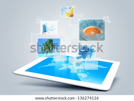 tablet pc computer tecnology background