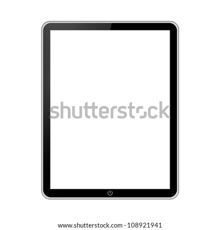 Tablet pc isolated on white background