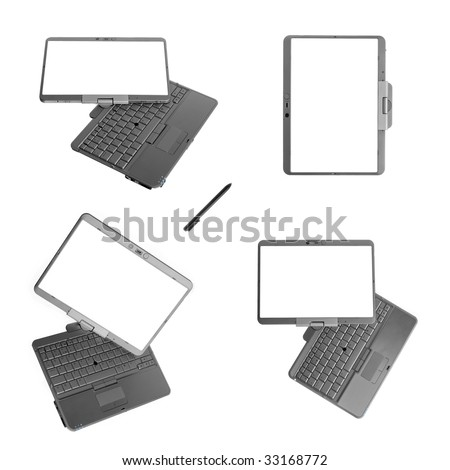 Tablet PC laptop isolated on white background