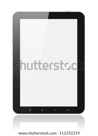 Tablet PC on white background