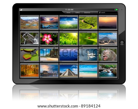 Tablet PC with photo gallery