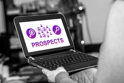 Tablet screen displaying a prospects concept