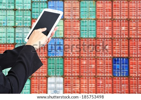 tablet to handle export and import Container transport