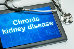 Tablet with the text Chronic kidney disease on the display