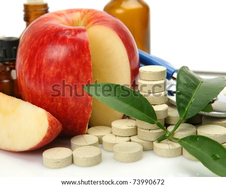Tablets and fruit