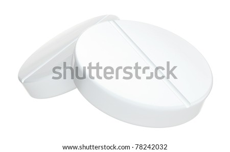 Tablets 3D model on white background
