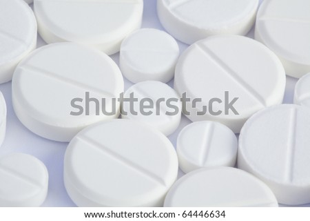 tablets on a white background