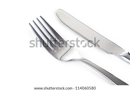 tableware isolated on white beckground - stock photo