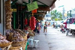 Taboan Market in Cebu City, Philippines, where fresh, dried foods are sold
