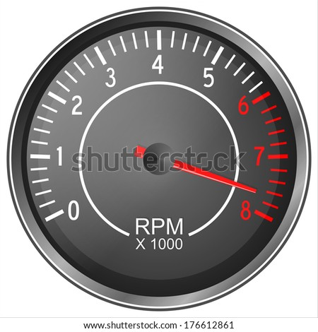 Tachometer illustration isolated on white background Foto stock ©