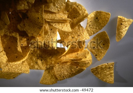 Taco Chips on white background