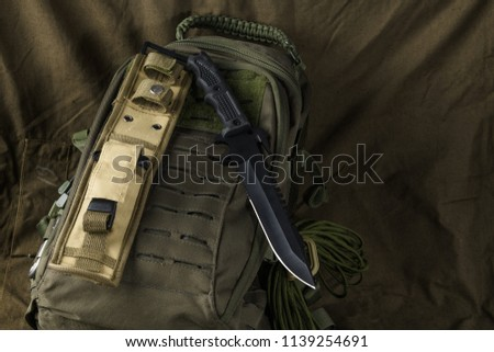 tactical combat knife backpack