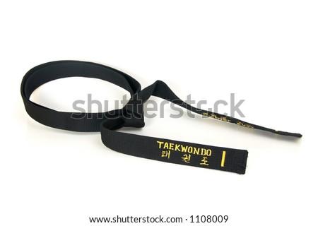 Taekwondo first degree black belt.