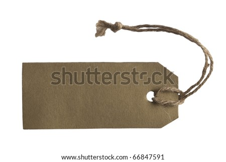 tag or label isolated on white