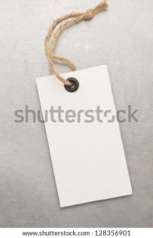 tag price and metal background texture
