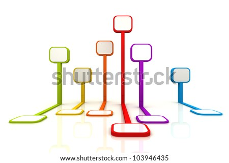 Tag Stand Signage 3D Render Icon Colorful