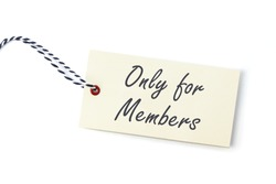 tag with text ONLY FOR MEMBERS