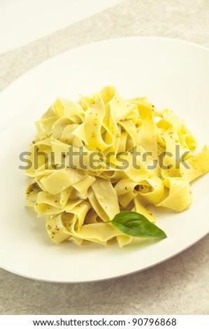Tagliatelle with pesto