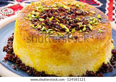 Tahcin on the blue plate