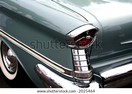Tail lamp of vintage car