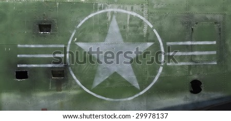 Tail of World War II Airplane - landscape