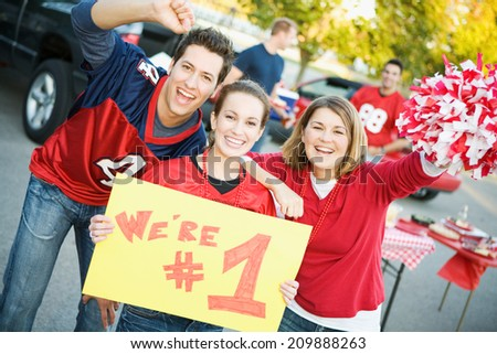 stock photo: football tailgate party