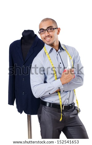 Tailor isolated on the white background