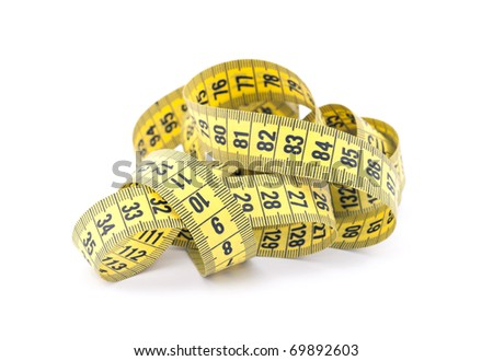 Tailor measuring tape with soft shadow