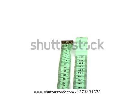 Tailoring centimeter tape isolated on a white background. Copy space