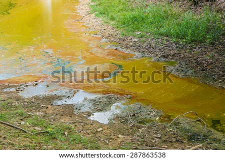 tainted water resources / water pollution