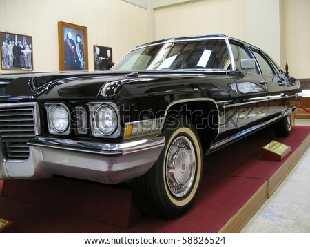 TAIPEI, TAIWAN - AUGUST 2: The vintage presidential limousine of former ROC president Chiang Kai-Shek is on exhibit at the CKS Memorial, August 2, 2010, Taipei, Taiwan