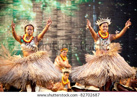 TAIPEI, TAIWAN - JULY 31: Global Indigenous peoples performing arts festival on July 31, 2011 in Taipie, Taiwan, More than 10 countries' dancing groups in the world took part in the festival