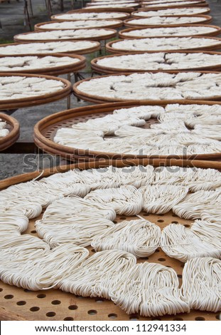 Taiwan Asia Background dishes food culture outdoor noodles curly brown wood sunlight white piece more