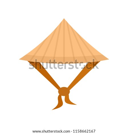 Taiwan conic hat icon. Flat illustration of Taiwan conic hat icon for web isolated on white