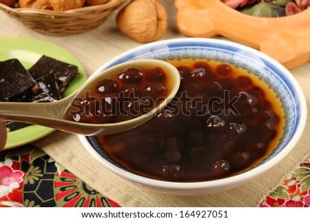 Taiwan famous dessert - tapioca ball